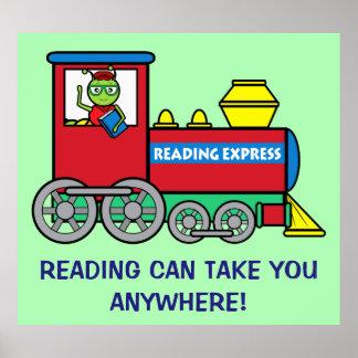 Tren con el ratón de biblioteca: Lectura expresa Póster