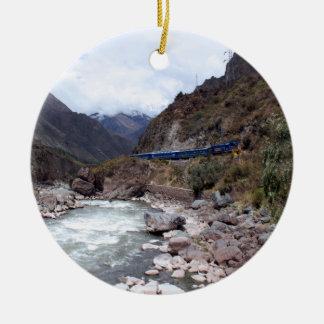 Tren Cusco Perú de Urubamba River Valley Adorno Redondo De Cerámica