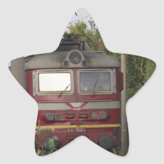 Tren de carga búlgaro pegatina en forma de estrella