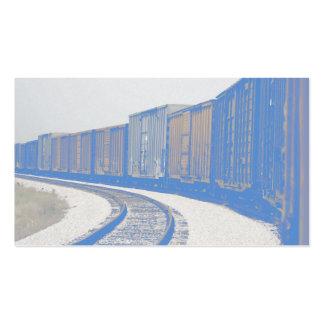 Tren de carga descolorado tarjetas de visita