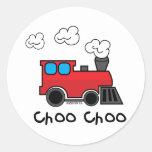 Tren de Choo Choo Pegatinas Redondas