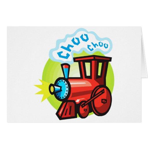 Tren de Choo Choo Tarjeta De Felicitación