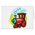 Tren de Choo Choo Tarjetas