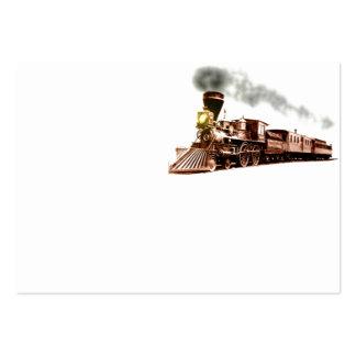 Tren de cobre tarjetas de visita grandes