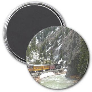 Tren de Durango Silverton Imán Redondo 7 Cm
