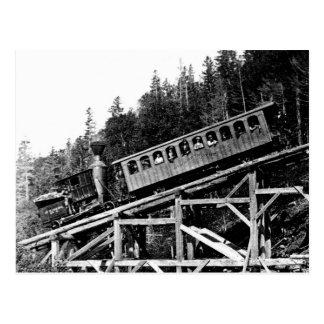 """Tren de ferrocarril 1880 """"nube """" postales"""