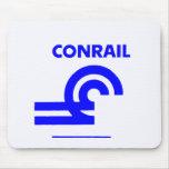 Tren de ferrocarril del logotipo de Conrail Alfombrillas De Ratones