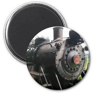 Tren de ferrocarril locomotor del vintage imán redondo 5 cm
