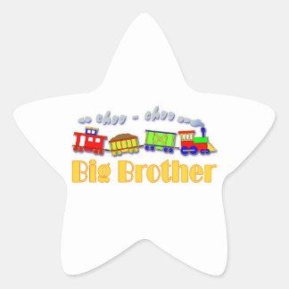 Tren de hermano mayor Choo Choo Pegatina En Forma De Estrella