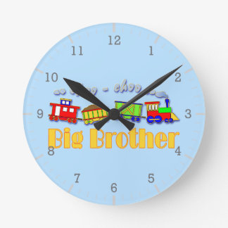 Tren de hermano mayor Choo Choo Reloj Redondo Mediano