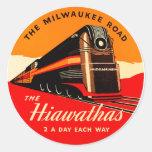 Tren de Hiawathas Etiquetas