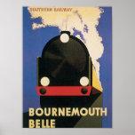 Tren de la belleza de Bournemouth del viaje del Póster