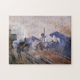 Tren de la estación del Santo-Lazare que viene Puzzle