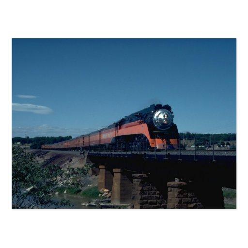 """Tren de la """"luz del día"""" del SP, llevado por 4-8-4 Tarjetas Postales"""