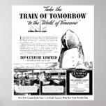 Tren de la mañana - ferrocarril de la central de poster