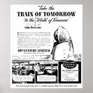 Tren de la mañana - ferrocarril de la central de póster