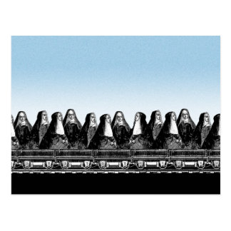 Tren de la monja tarjetas postales