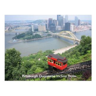 Tren de la pendiente de Pennsylvania Pittsburgh Postales