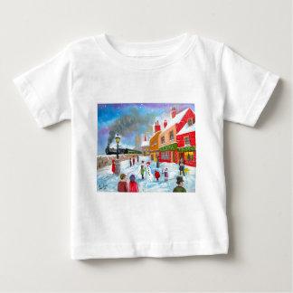 Tren de la pintura del arte popular de la escena camisetas