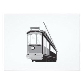 Tren de la tranvía del tranvía del vintage comunicados personales