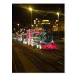 Tren de la tranvía - postal de las iluminaciones d