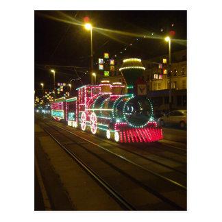 Tren de la tranvía - postal de las iluminaciones