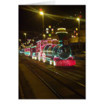 Tren de la tranvía - tarjeta de las iluminaciones
