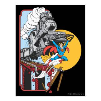 Tren de las elevaciones del superhombre tarjeta postal