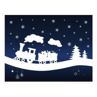 tren de los cristmas con la postal de los regalos