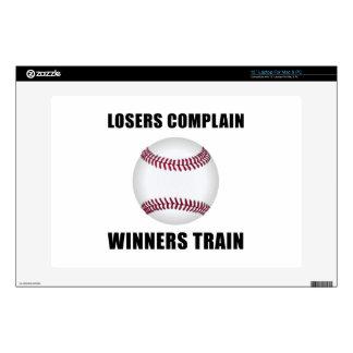 Tren de los ganadores del béisbol calcomanías para portátiles