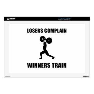 Tren de los ganadores del levantamiento de pesas skins para 43,2cm portátiles