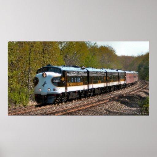 Tren de pasajeros clásico impresiones