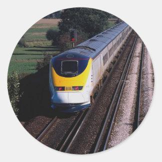 Tren de pasajeros de Eurostar Pegatina Redonda