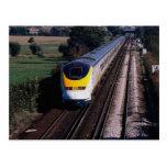 Tren de pasajeros de Eurostar Postales
