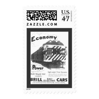 Tren de pasajeros ligero 1932 del rodaballo timbre postal