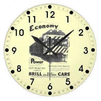 Tren de pasajeros ligero del rodaballo WallClocK 1 Reloj