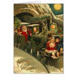 Tren de Santa del navidad del Victorian Tarjetas
