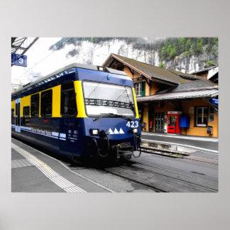Tren del bahn de Berner Oberland Póster