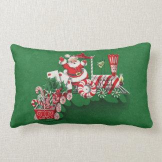 Tren del caramelo de hierbabuena de Papá Noel del  Cojin