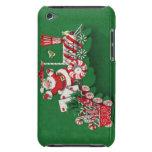Tren del caramelo de hierbabuena de Papá Noel del  Barely There iPod Protectores