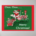 Tren del caramelo de Papá Noel Poster