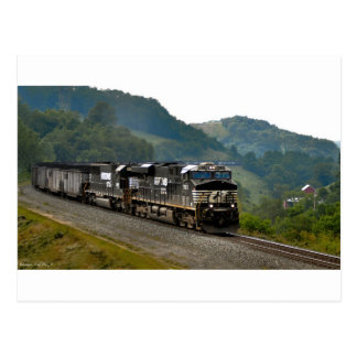 Tren del carbón postal