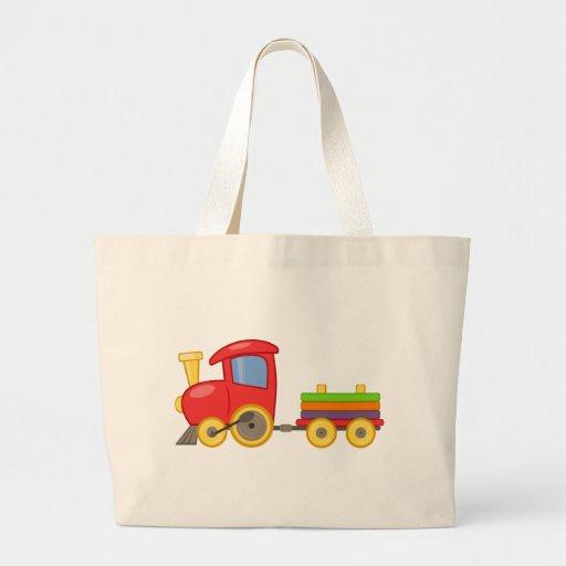 Tren del dibujo animado bolsas de mano