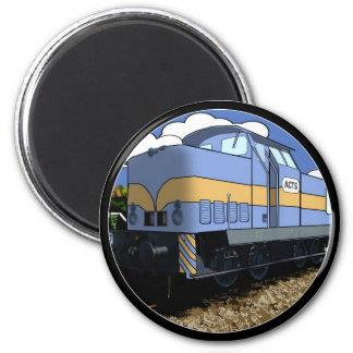 Tren del dibujo animado imán redondo 5 cm