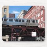 Tren del EL de Chicago Tapetes De Ratón