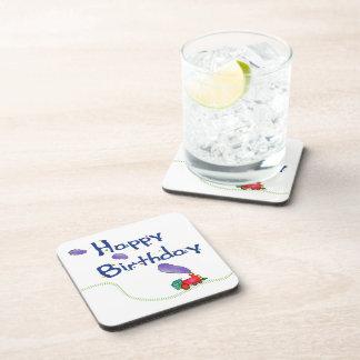 Tren del feliz cumpleaños posavasos