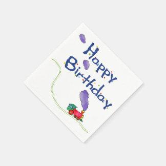 Tren del feliz cumpleaños servilleta desechable