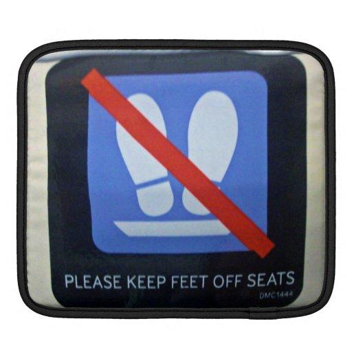 Tren del interior de la señal de peligro manga de iPad