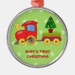 Tren del juguete, el primer navidad del bebé ornamento para reyes magos