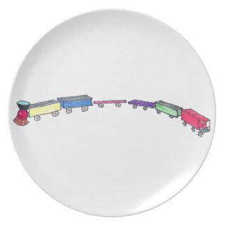 Tren del juguete plato